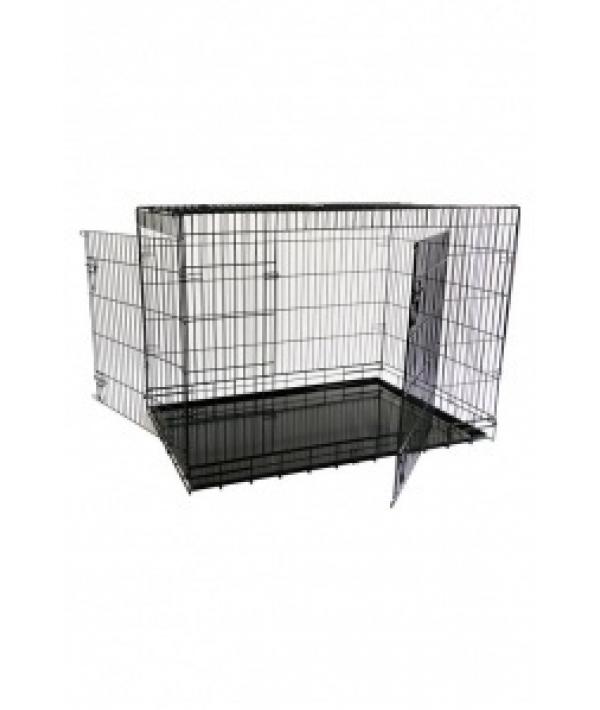 Клетка металлическая с 2 дверками 118 x 78 x 85 см, черная, облегченная/ Economic wire cage black 2 doors 118 x 78 x 85 cm (1/1) 151218L