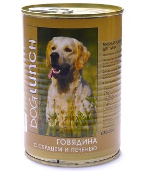 Консервы для собак Говядина с Сердцем и печенью в желе (55187)