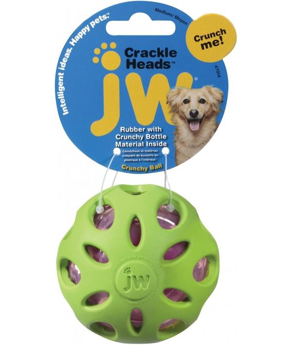 """Игрушка для собак мячик """"Шуршик"""", 8 см (JW Pet CRACKLE BALL MEDIUM) 47014"""