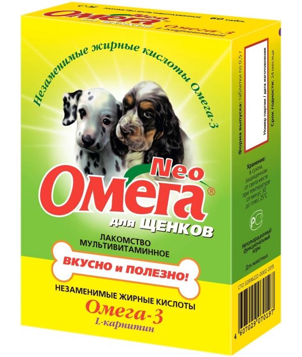 Омега Нео витамины для щенков, 60таб. (13017)