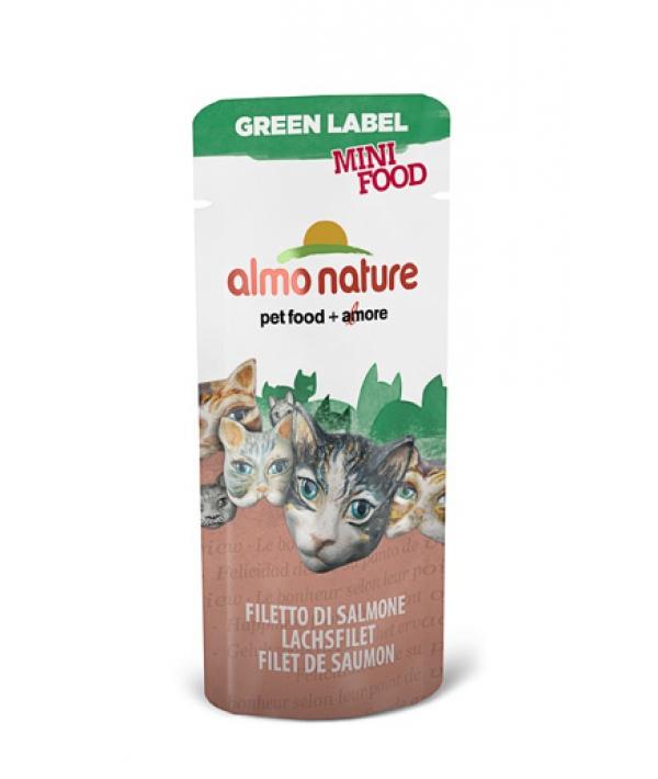 "Лакомство для кошек ""Филе Лосося"", 99% мяса (Green Label Mini Food Salmon Fillet) 501"