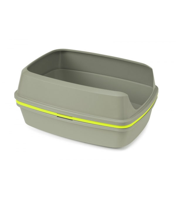 Многофункциональный туалет – лоток для кошек Lift to Sift, 38,4х50,2х24,1 см, серый+лимонный (Lift to Sift) MOD – AA70 – 0330.