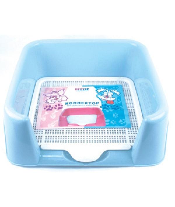 Туалет для собак, с коллектором 42*42*15см, пластик (5600075)