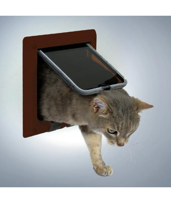 Дверца для кошки (15,8х14,7см) коричневая 38623
