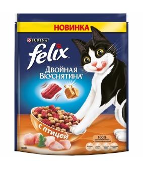 """Сухой корм для кошек """"Двойная вкуснятина"""" с птицей 12367741 / 12367745"""