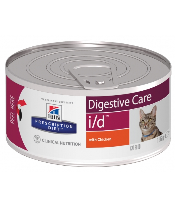 Консервы i/D (Ай – Ди )для кошек – Леч – е заб. желуд – кишечн. тракта 4628F