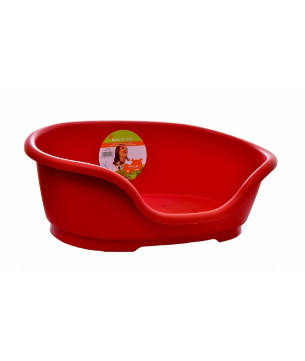 Лежак пластиковый Domus 40см, 48х32х18см, красный