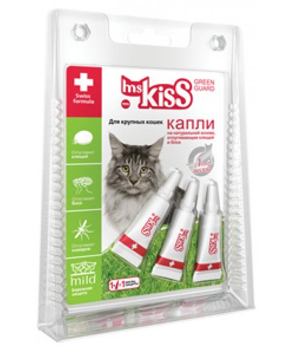 Капли репеллентные для крупных кошек весом более 2 кг, 3 шт по 2,5 мл МК05 – 00360
