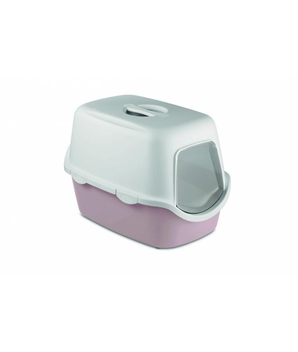 Туалет закрытый Cathy, пудровый с угольным фильтром, 56*40*40см (TOILETTE CATHY FILTER CIPRIA/BIANCO) 98646
