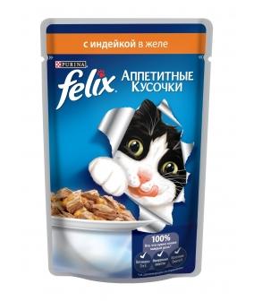 Кусочки в желе для кошек с индейкой 12318919/12114150