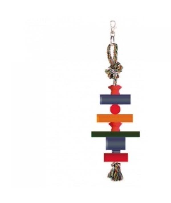 """Игрушка """"Фигуры"""" для птиц, 28см, хлопок, дерево (5608078)"""