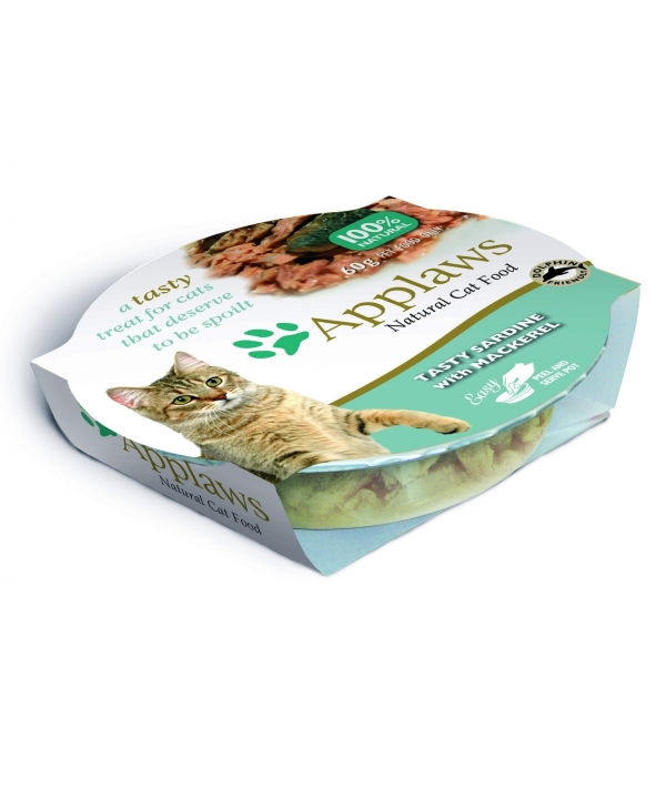 """Консервы для Кошек """"Лакомые Сардинки со Скумбрией"""" (Cat Tasty Sardine with Mackerel) 7004CE – A"""