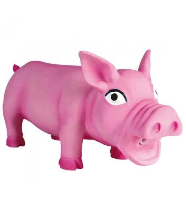 Игрушка д/собак Латексная Свинка хрюкающая, 17см (35490)