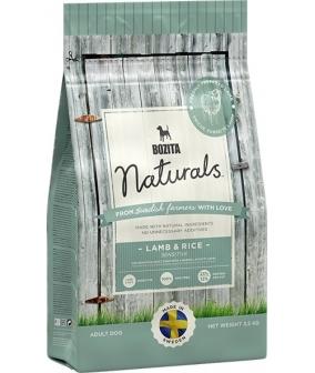 Naturals для взрослых собак с чувствительным пищеварением, с ягненком