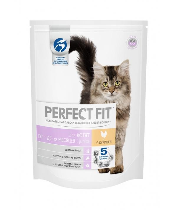 Сухой корм для котят, с курицей (PERFECT FIT Junior Ck 10*650g) 10162218/10172975
