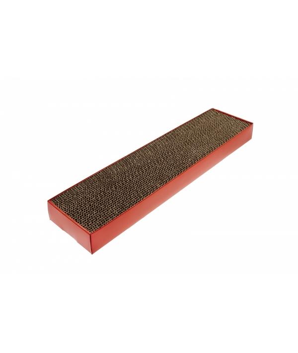 """Плоская картонная когтеточка """"Подиум"""" 48X12,5X5. см (TIRAGRAFFI CARTONE 48X12,5X5 CM.) GTT649"""