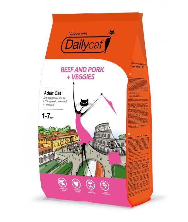 Для взрослых кошек с говядиной, свининой и овощами (Adult Beef&Pork,Veggies) 700Д