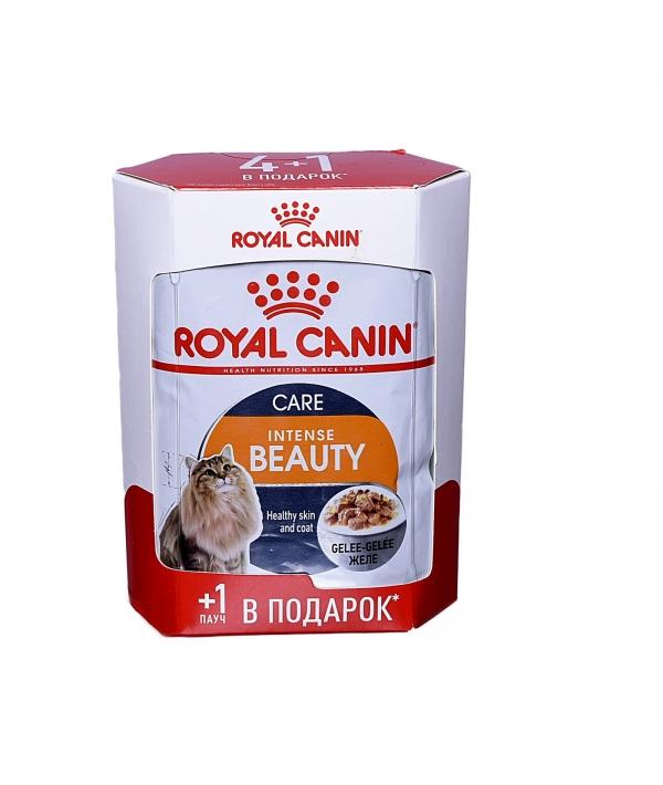 Кусочки в желе для кошек 1–7 лет: идеальная кожа и шерсть (Intense Beauty) 7859007