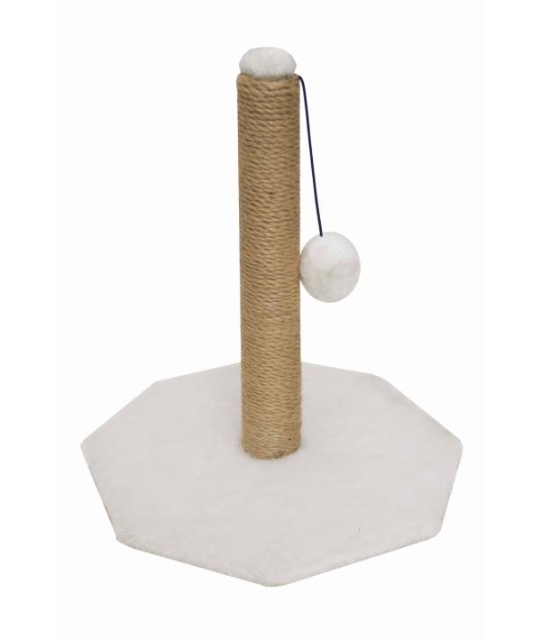 Когтеточка Столбик, белая, 48*36*34, джут РП