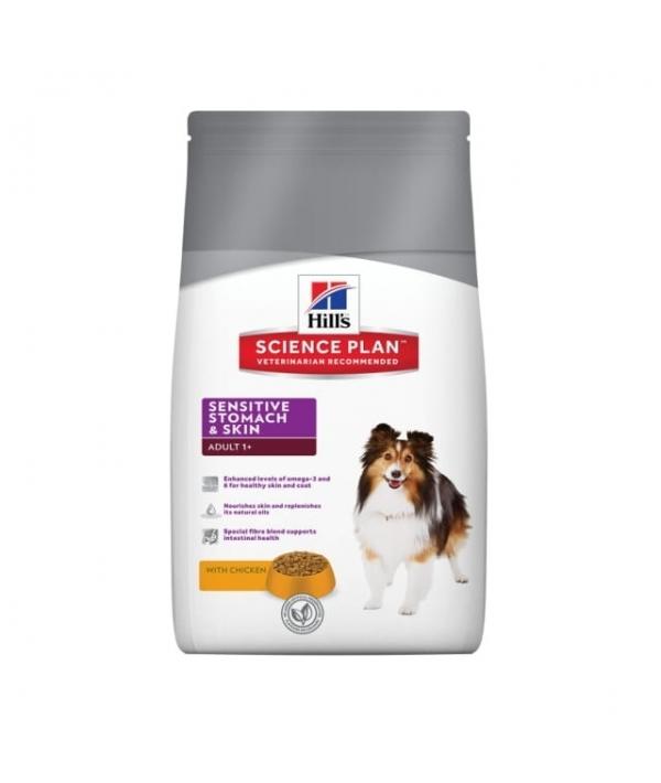 Для взрослых собак – блестящая шерсть и здоровая кожа (Sensitive Skin) 6060M