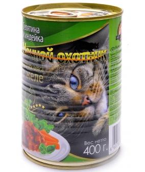 Кусочки в желе для кошек с телятиной и индейкой – 11792