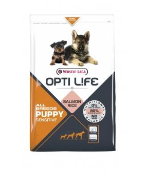 Для щенков с чувствительным пищеварением с лососем и рисом (Opti Life Puppy Sensitive All Breeds) 431162