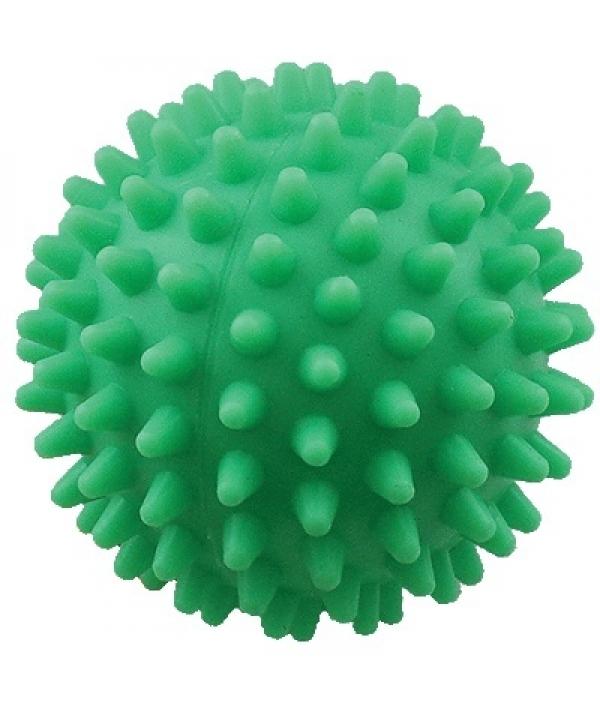 """Игрушка для собак """"Мяч массажный №1"""" винил, 5,5см зеленый"""
