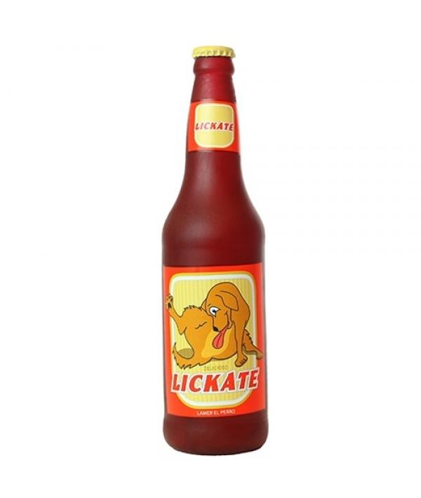 """Виниловая игрушка – пищалка для собак Бутылка пива """"Облизывательно"""" (Beer Bottle Likate) SS – BB – LK"""