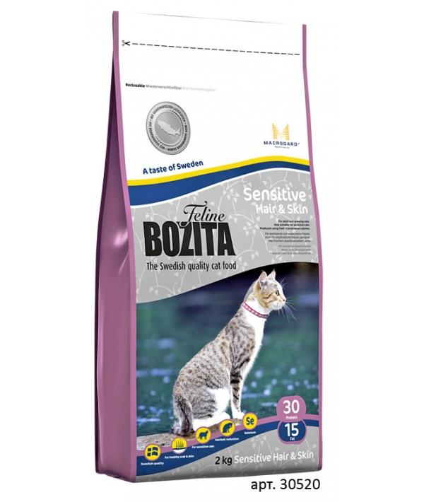 Для здоровой кожи и шерсти кошек с курицей, лососем и рисом (Sensitive Hair&Skin 30/15)