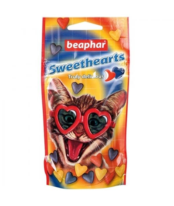 Лакомство для кошек в форме сердечек (Sweet Hearts Trully delicious)150шт. красный пакетик (16110/16118)