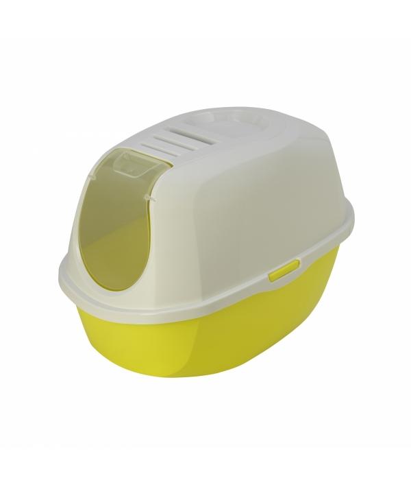Туалет – домик SmartCat с угольным фильтром, 54х40х41см, лимонно – желтый (Smart cat) MOD – C370 – 329. – B