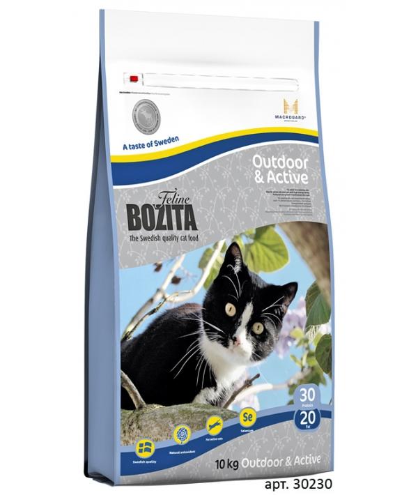 Для активных кошек с курицей, лосем, рисом (Outdoor&Active 30/20)