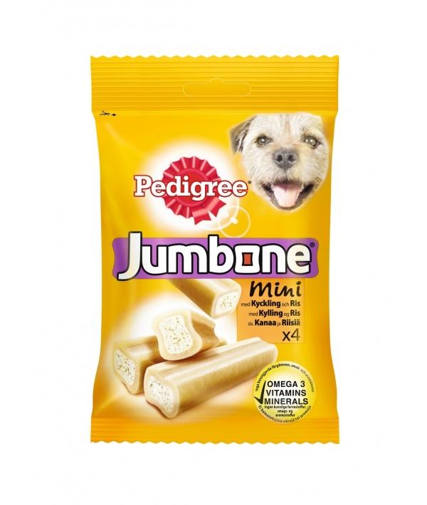 Лакомство для собак кость Джамбоун для малых пород с курицей и рисом 10137213