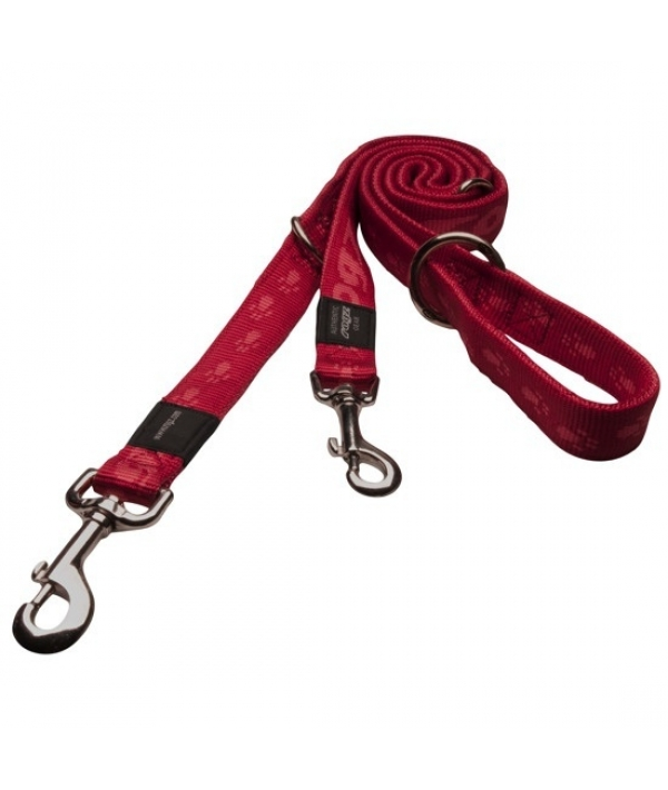 "Поводок – перестежка серия ""Alpinist"", размер L, ширина 2см, длина 1,0 – 1,3 – 1,6м, красный (MULTI PURPOSE LEAD) HLM25C"