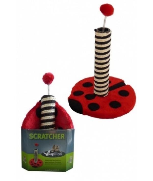 "Когтеточка ""Божья коровка"" 43*31*31см (Cat scratcher ladybird red/black in promobox) 210101"