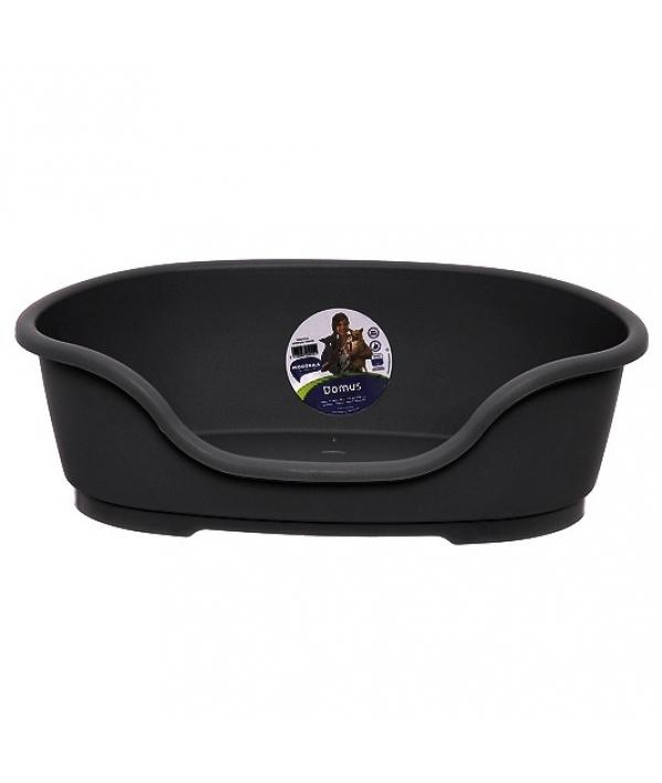 Лежак domus пластиковый 110см, 125х80х35, черный
