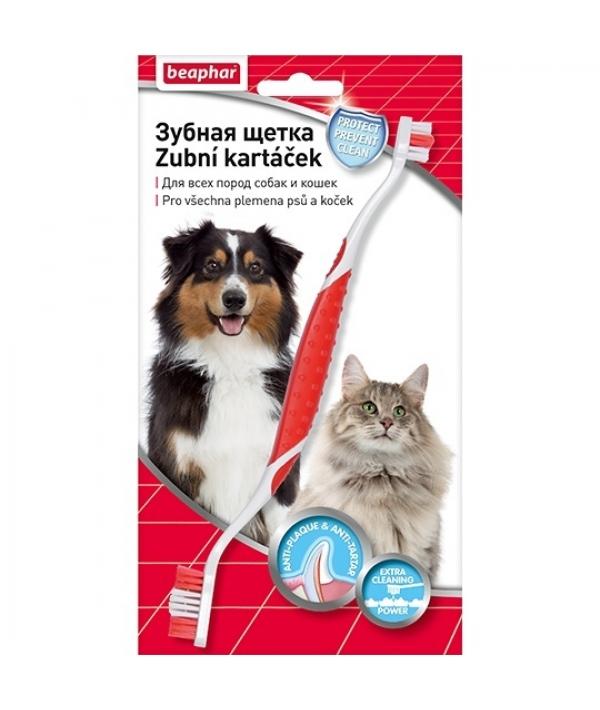 Зубная щетка двойная для собак (блистер) 15315