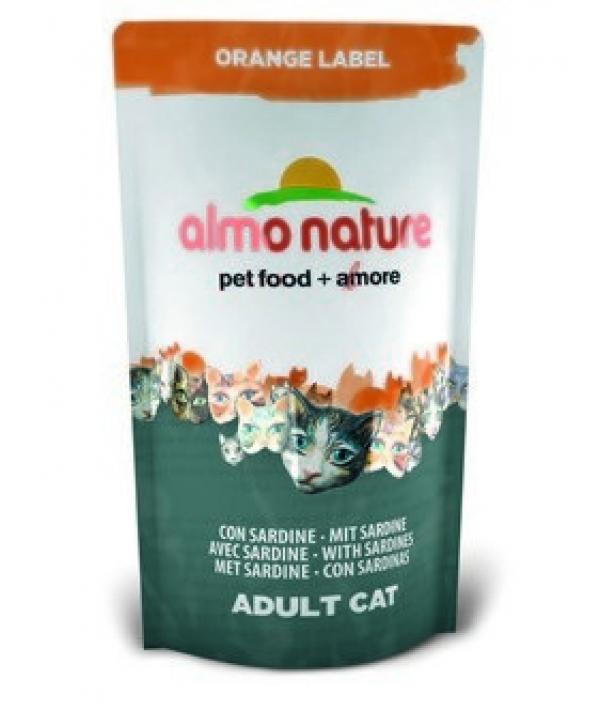 Для Кастрированных кошек с Сардинами (Orange label Cat Sardines) 423