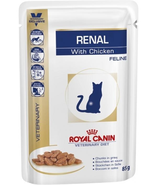 Кусочки в соусе для кошек при лечении почек, на куре (Renal S/O) 794001/794101