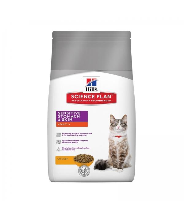 Для взрослых кошек с чувствительным желудком и кожей (Adult Sensitive Stomach & Skin) 11077R