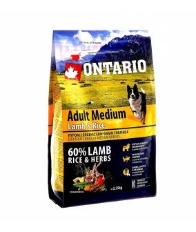 Для собак с ягненком и рисом (Ontario Adult Medium Lamb & Rice 12kg) 214 – 10698