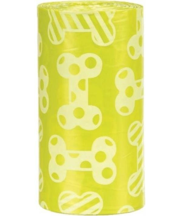 Пакеты для уборки за собаками, 3 л, 4 рулона по 20 штук, с ароматом лимона, желтые 23473