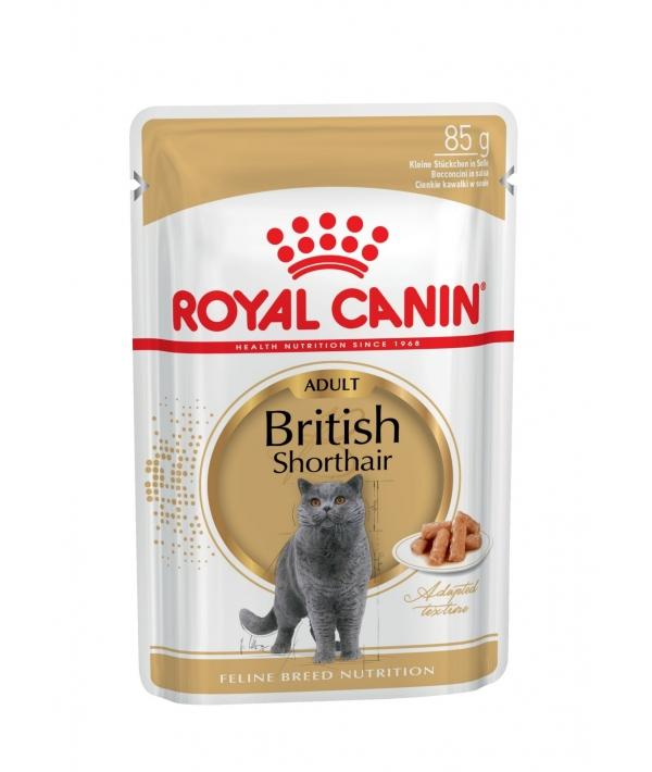 Паучи Кусочки в соусе для Британской Короткошерстной кошки 540001 / British Shorthair