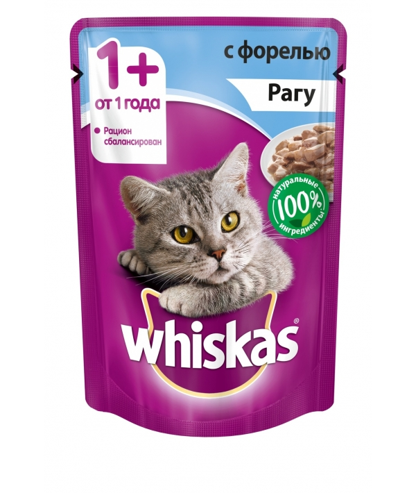Паучи для кошек рагу с форелью 10137260