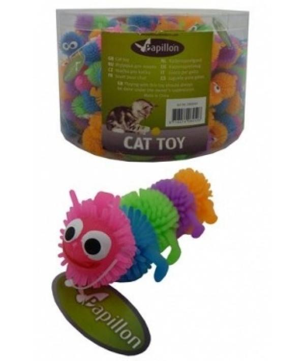 """Игрушка для кошек """"Гусеница"""", латекс, 6,5см (Caterpillar) 240040"""