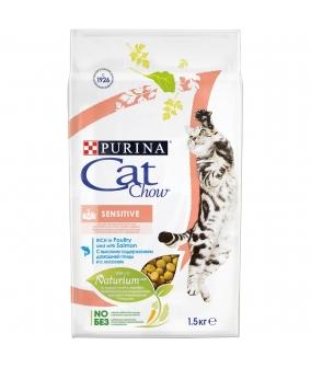 Для кошек с лососем и рисом – для пищеварения(Adult Sensitive) – 12147057