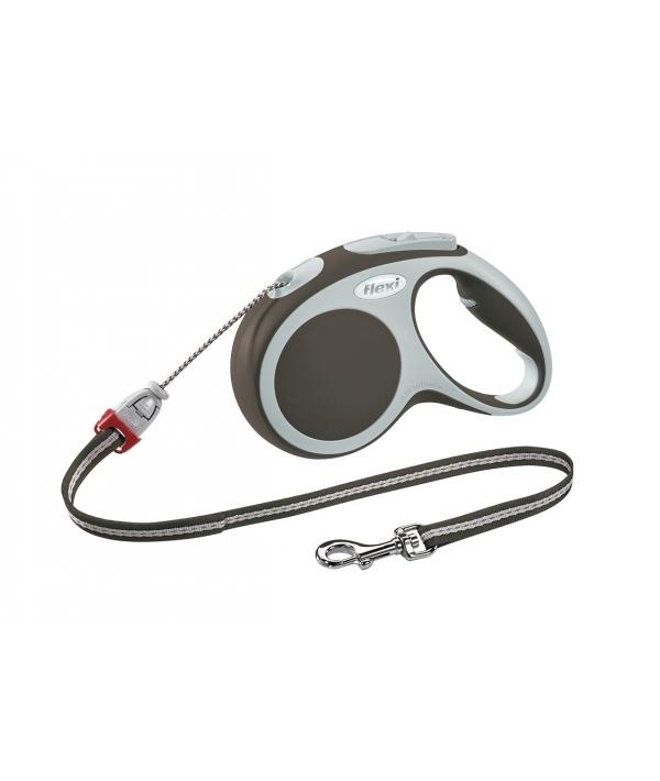 Рулетка – трос для собак до 20кг, 5м, коричневая (Vario M cord 5m brown)