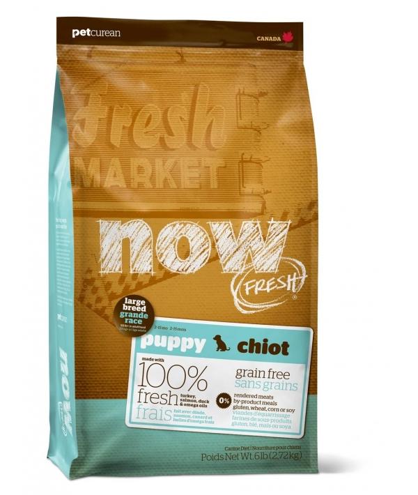 Беззерновой для Щенков Крупных пород с Индейкой, Уткой и овощами (Fresh Puppy Large Breed Recipe Grain Free 29/16)
