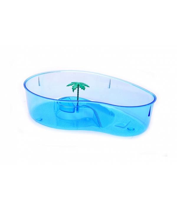 Ванночка для черепахи овальная, 32*24*9 см (Turtle box oval) 442