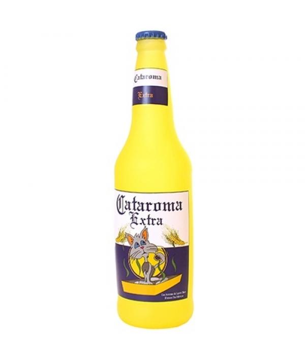 """Виниловая игрушка – пищалка для собак Бутылка пива """"Кошачий аромат"""" (Beer Bottle Cataroma) SS – BB – CA"""